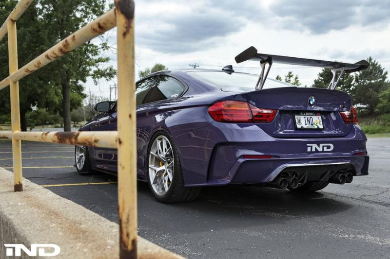 iND Distribution BMW M4 F82 Coupe Purple Tuning BBS KW Carbon (5)