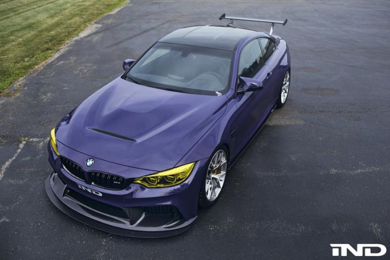 iND Distribution BMW M4 F82 Coupe Purple Tuning BBS KW Carbon (7)