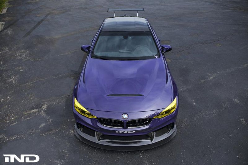 iND Distribution BMW M4 F82 Coupe Purple Tuning BBS KW Carbon (8)