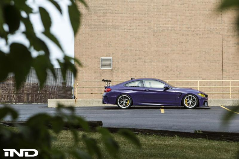 iND Distribution BMW M4 F82 Coupe Purple Tuning BBS KW Carbon (9)