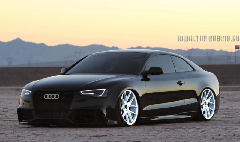 2014 audi a5 schwarz tuningblog.eu wei%C3%9Fe felgen Rendering: Z Performance Wheels 2K16 am Audi A5 Coupe