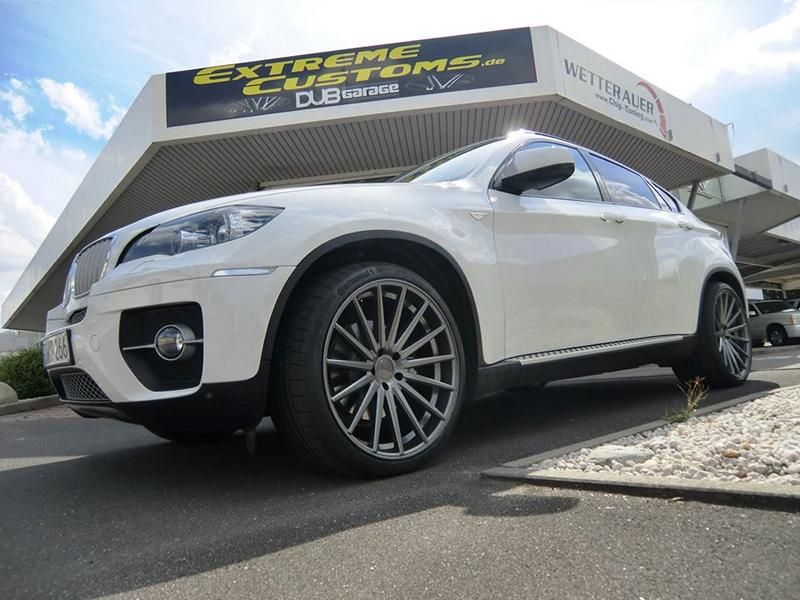 22 Zoll Vossen VFS-2 Alu's Extreme Customs Germany Tuning H&R BMW X6 E71 (5)