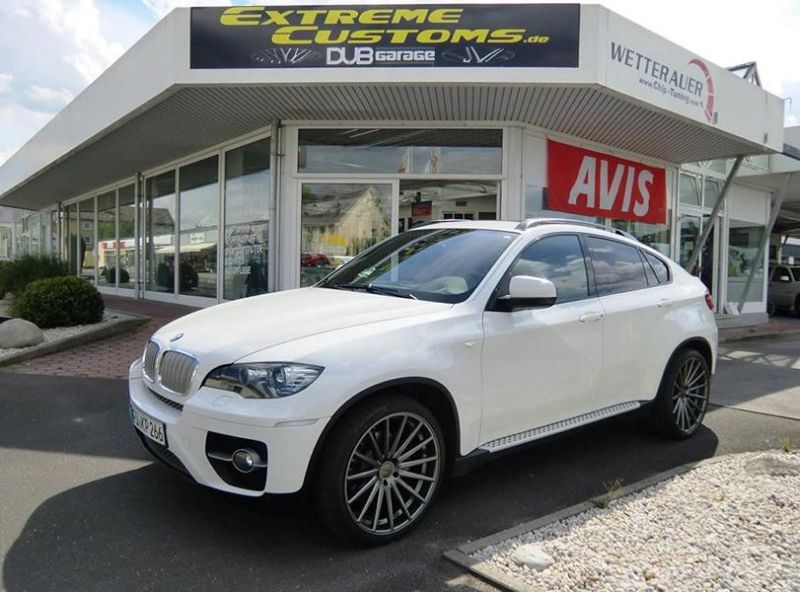 22 Zoll Vossen VFS 2 Alu's Extreme Customs Germany Tuning HR BMW X6 E71 8 22 Zoll Vossen VFS 2 Alu's am Extreme Customs BMW X6 E71