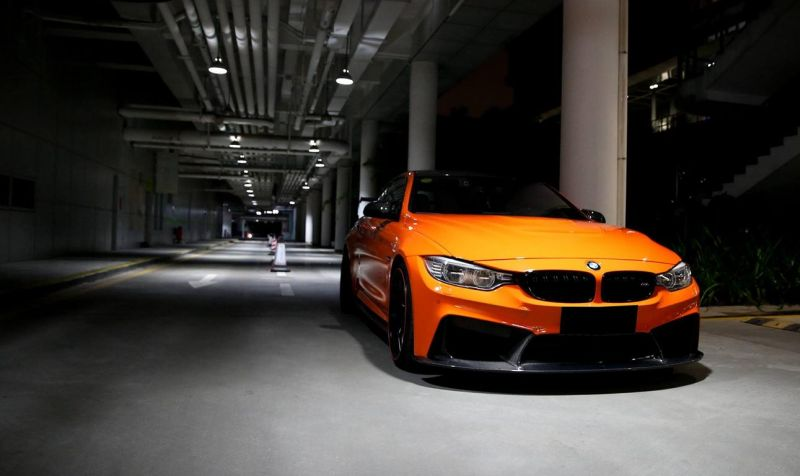 3D Design Carbon BMW M4 F82 Tuning Feuerorange 2 Fotostory: 3D Design   Carbon Parts am BMW M4 in Feuerorange