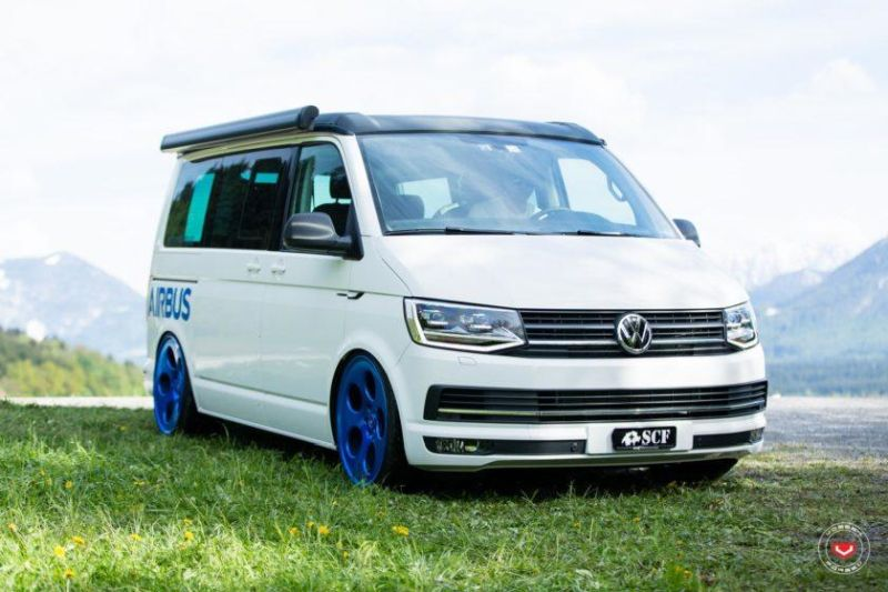 vw t6 airbus auf 22 zoll vossen wheels lc 103 felgen. Black Bedroom Furniture Sets. Home Design Ideas