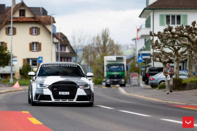 Audi A4 RS4 B8 Tuning Camouflage 20 Zoll Vossen VFS-2 Wheels (13)