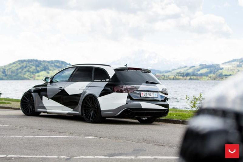 Audi A4 RS4 B8 Tuning Camouflage 20 Zoll Vossen VFS-2 Wheels (17)