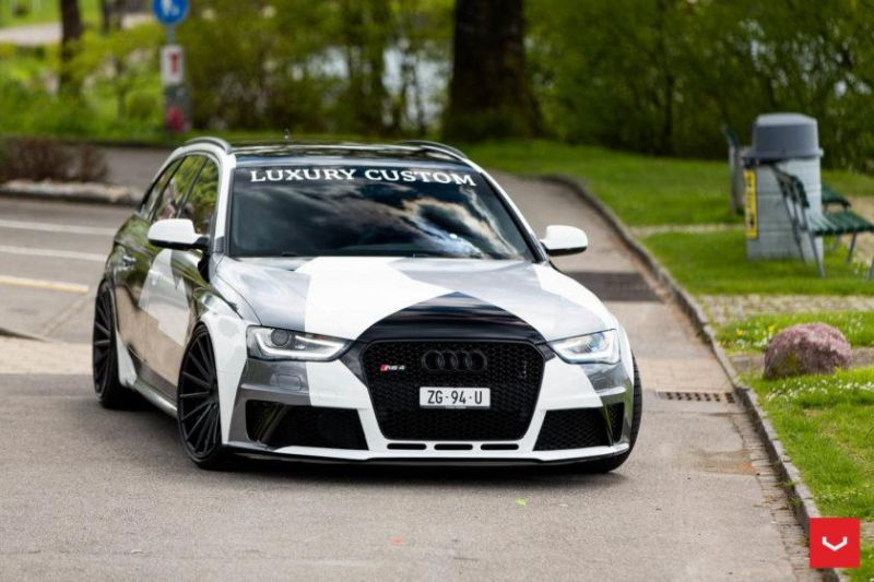 Audi A4 RS4 B8 Tuning Camouflage 20 Zoll Vossen VFS-2 Wheels (20)