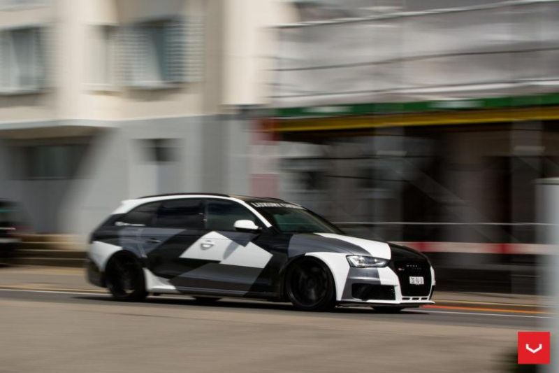 Audi A4 RS4 B8 Tuning Camouflage 20 Zoll Vossen VFS-2 Wheels (22)