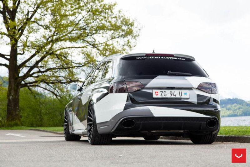 Audi A4 RS4 B8 Tuning Camouflage 20 Zoll Vossen VFS-2 Wheels (24)