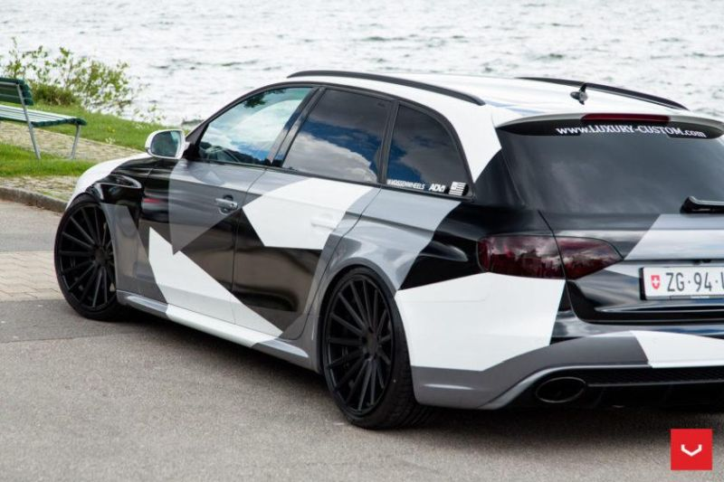 Audi A4 RS4 B8 Tuning Camouflage 20 Zoll Vossen VFS-2 Wheels (30)