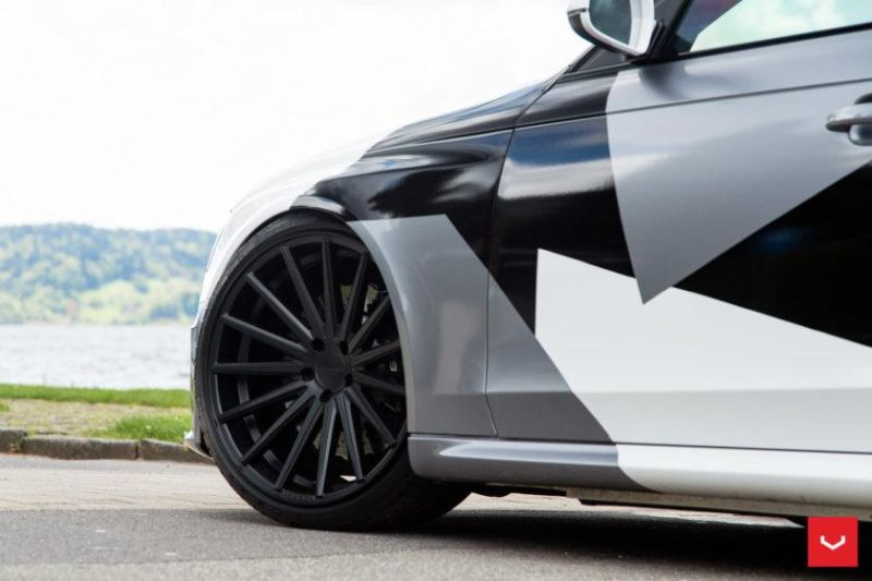 Audi A4 RS4 B8 Tuning Camouflage 20 Zoll Vossen VFS-2 Wheels (31)