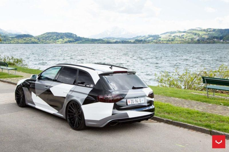 Audi A4 RS4 B8 Tuning Camouflage 20 Zoll Vossen VFS-2 Wheels (35)