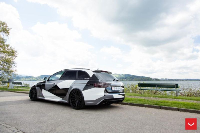 Audi A4 RS4 B8 Tuning Camouflage 20 Zoll Vossen VFS-2 Wheels (38)