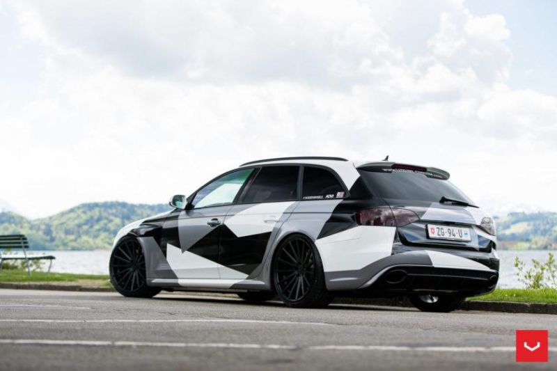 Audi A4 RS4 B8 Tuning Camouflage 20 Zoll Vossen VFS-2 Wheels (46)