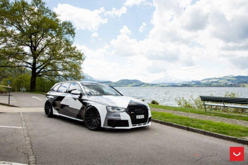 Audi A4 RS4 B8 Tuning Camouflage 20 Zoll Vossen VFS-2 Wheels (50)