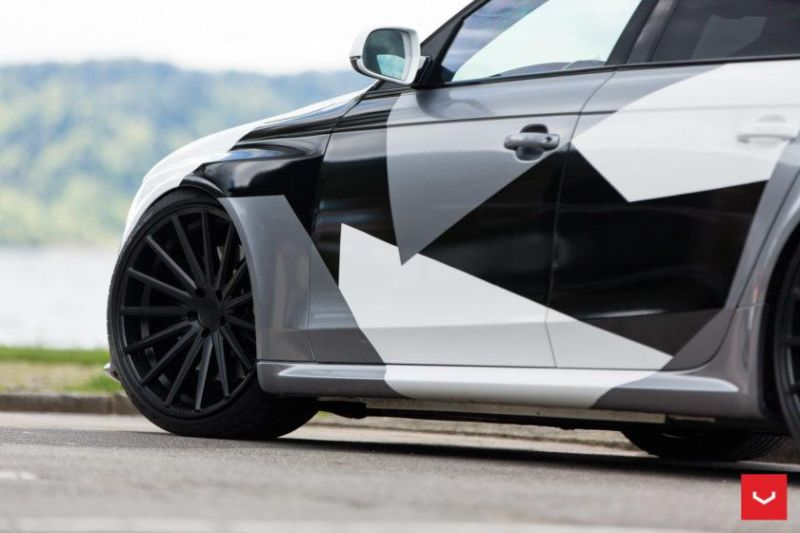 Audi A4 RS4 B8 Tuning Camouflage 20 Zoll Vossen VFS-2 Wheels (51)