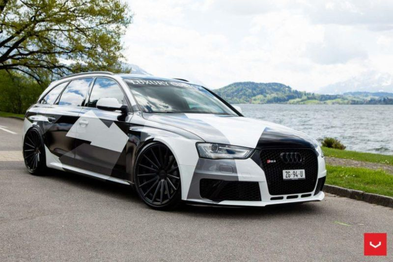 Audi A4 RS4 B8 Tuning Camouflage 20 Zoll Vossen VFS-2 Wheels (52)