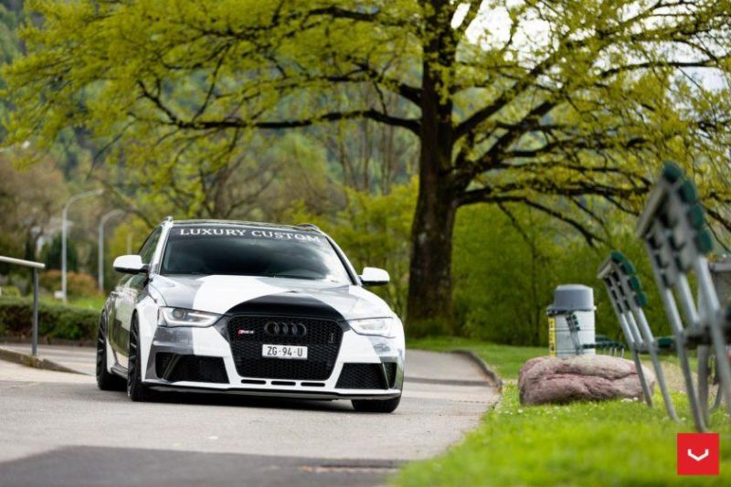 Audi A4 RS4 B8 Tuning Camouflage 20 Zoll Vossen VFS-2 Wheels (6)