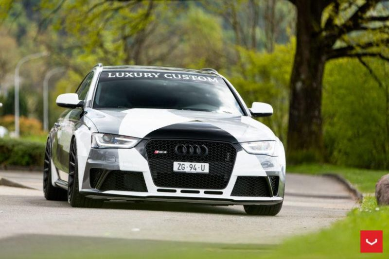 Audi A4 RS4 B8 Tuning Camouflage 20 Zoll Vossen VFS-2 Wheels (7)
