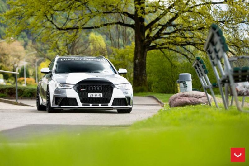 Audi A4 RS4 B8 Tuning Camouflage 20 Zoll Vossen VFS-2 Wheels (8)