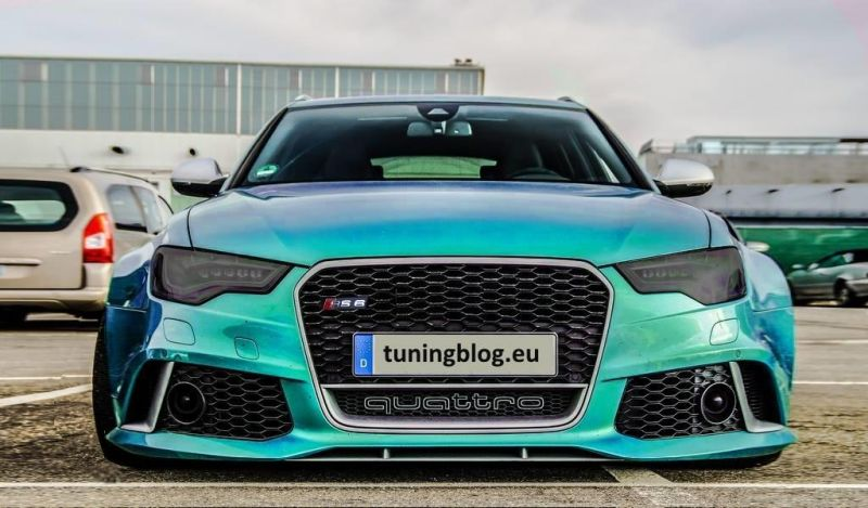 Audi A6 RS6 C7 Avant Widebody Widebody Audi A6 C7 RS6 Avant in Javagreen by tuningblog.eu