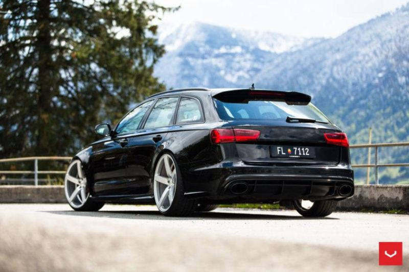 audi rs6 c7 avant auf vossen wheels cv3 r alufelgen. Black Bedroom Furniture Sets. Home Design Ideas