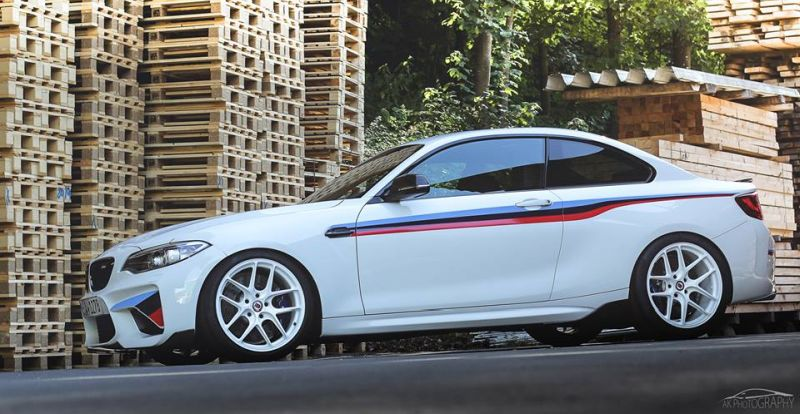 BMW M2 F87 Coupe HRE R101 LightWeight Tuning 2 Sehr schick   BMW M2 F87 Coupe auf HRE R101 LightWeight Felgen
