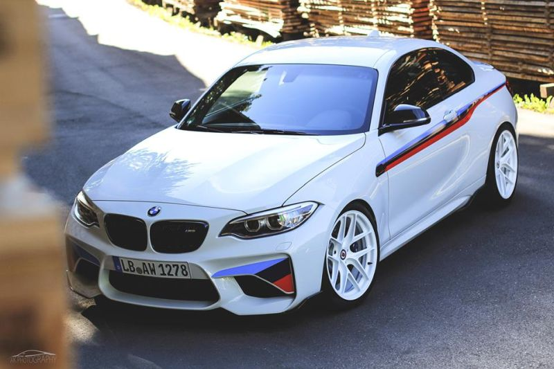 BMW M2 F87 Coupe HRE R101 LightWeight Tuning 4 Sehr schick   BMW M2 F87 Coupe auf HRE R101 LightWeight Felgen