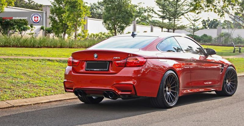 BMW M4 F82 Coupe HRE 303M Satin Bronze Tuning 1 Dezent   BMW M4 F82 Coupe auf HRE 303M Alu's in Satin Bronze