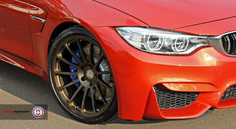 BMW M4 F82 Coupe HRE 303M Satin Bronze Tuning 3 Dezent   BMW M4 F82 Coupe auf HRE 303M Alu's in Satin Bronze