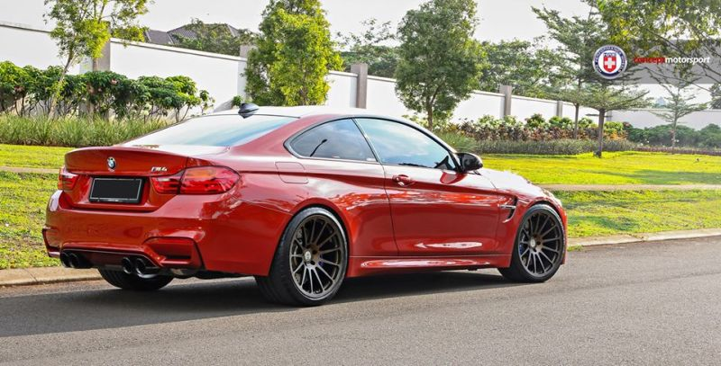 BMW M4 F82 Coupe HRE 303M Satin Bronze Tuning 4 Dezent   BMW M4 F82 Coupe auf HRE 303M Alu's in Satin Bronze