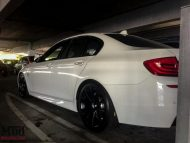 BMW F10 550i WHITE F14 20x9dc 20x105SDC GM 4 190x143 Forgestar F14 Alu's am ModBargains BMW 550i F10 in Weiß