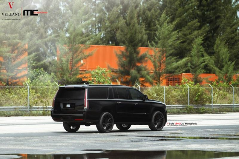 Cadillac Escalade Tuning 24 Zoll VM43 Tuning MC Customs 2 Monster   Schwarzer Cadillac Escalade auf 24 Zoll by MC Customs