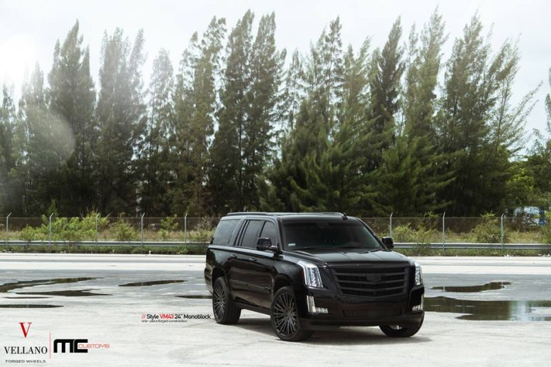 Cadillac Escalade Tuning 24 Zoll VM43 Tuning MC Customs 4 Monster   Schwarzer Cadillac Escalade auf 24 Zoll by MC Customs