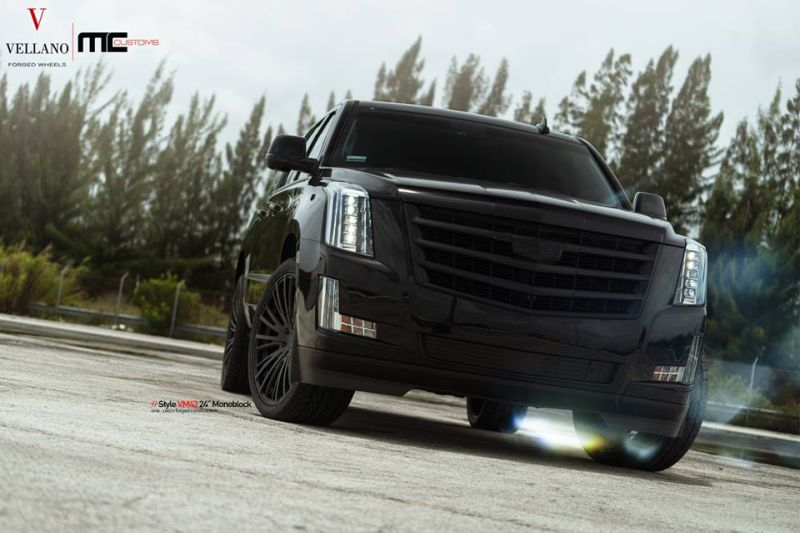 Cadillac Escalade Tuning 24 Zoll VM43 Tuning MC Customs 5 Monster   Schwarzer Cadillac Escalade auf 24 Zoll by MC Customs