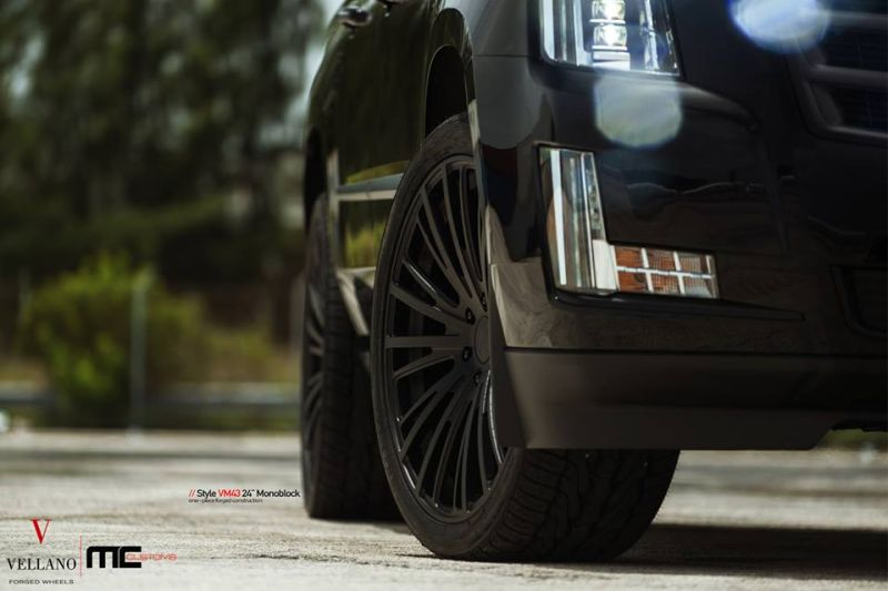 Cadillac Escalade Tuning 24 Zoll VM43 Tuning MC Customs 6 Monster   Schwarzer Cadillac Escalade auf 24 Zoll by MC Customs