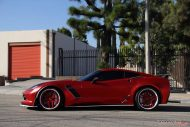 Chevrolet Corvette C7 Z06 LSD Doors Mattrot Widebody Impressive Wrap 6 190x127 Chevrolet Corvette C7 Z06 in Mattrot by Impressive Wrap