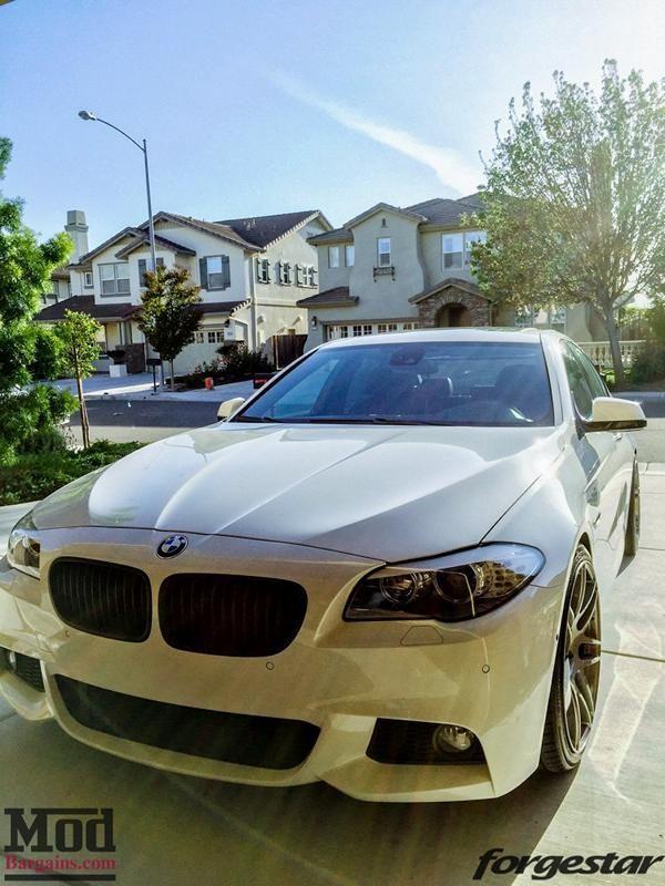 Forgestar F14 Felgen ModBargains BMW 550i F10 Wei%C3%9F Tuning 11 Forgestar F14 Alu's am ModBargains BMW 550i F10 in Weiß