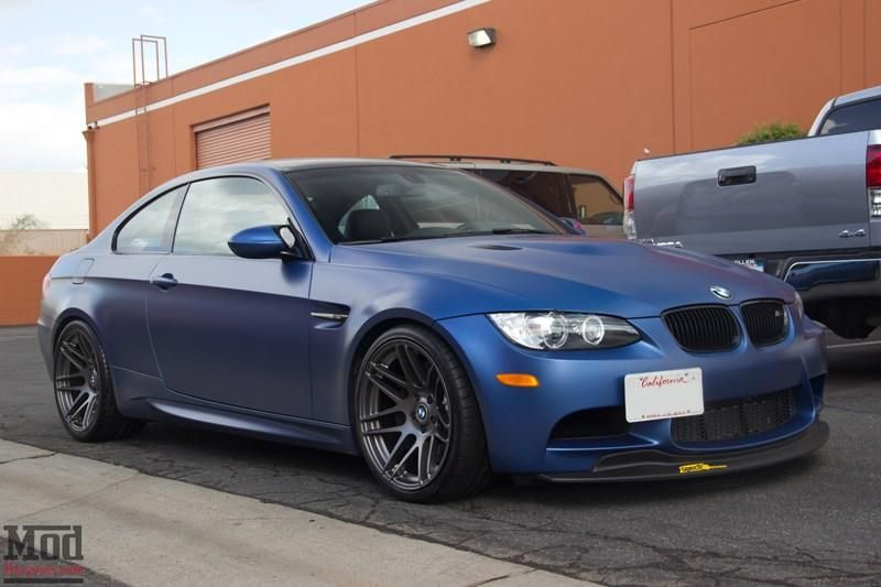 Frozen Blue BMW E92 M3 Tuning Forgestar F14 by ModBargains 3 Frozen Blue BMW E92 M3 auf Forgestar F14 Alu's by ModBargains