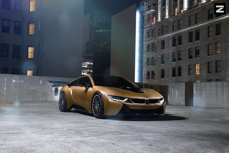 Matt Golden Bmw I8 On 20 Inch Zito Wheels Zs15 Wheels Tuningblog