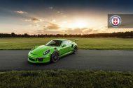 HRE P104 Satin Black Giftgrün Porsche 1 190x127 Porsche 911 GT3 RS auf HRE P104 Alufelgen in Satin Black