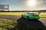 HRE P104 Satin Black Giftgrün Porsche 2 190x127 Porsche 911 GT3 RS auf HRE P104 Alufelgen in Satin Black