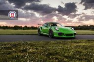 HRE P104 Satin Black Giftgrün Porsche 3 190x127 Porsche 911 GT3 RS auf HRE P104 Alufelgen in Satin Black