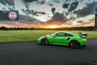HRE P104 Satin Black Giftgrün Porsche 4 190x127 Porsche 911 GT3 RS auf HRE P104 Alufelgen in Satin Black