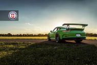 HRE P104 Satin Black Giftgrün Porsche 5 190x127 Porsche 911 GT3 RS auf HRE P104 Alufelgen in Satin Black