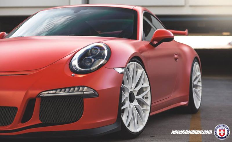 HRE P200 Tuning Porsche 911 991 GT3 Satin Lava Orange 3 Super schick   HRE P200 Alu's am Porsche 911 GT3 in Satin Lava Orange