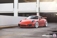 HRE P200 Tuning Porsche 911 991 GT3 Satin Lava Orange 4 3 190x127 Super schick   HRE P200 Alu's am Porsche 911 GT3 in Satin Lava Orange