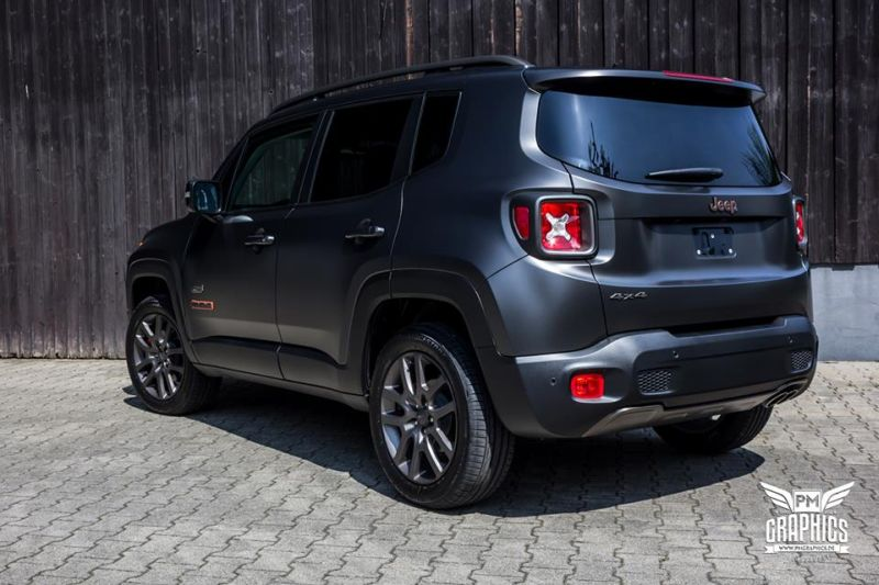 Jeep Renegade Satin Pearl Nero Folierung SchwabenFolia Tuning 1 Jeep Renegade in Satin Pearl Nero by SchwabenFolia CarWrapping