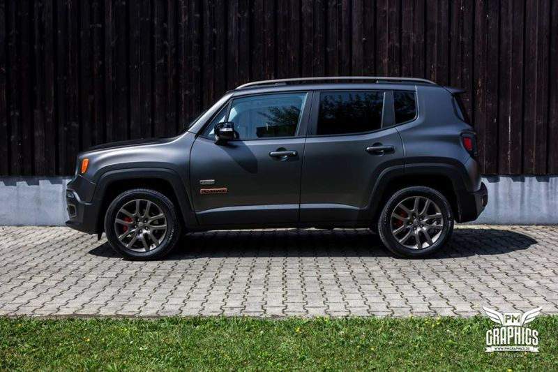Jeep Renegade Satin Pearl Nero Folierung SchwabenFolia Tuning 2 Jeep Renegade in Satin Pearl Nero by SchwabenFolia CarWrapping